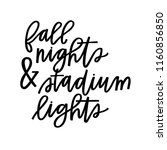 fall nights and stadium lights | Shutterstock .eps vector #1160856850