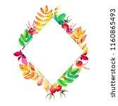 rhombus frame for decorating...   Shutterstock . vector #1160865493