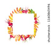 square frame for decorating...   Shutterstock . vector #1160865496