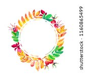 round frame for decorating card ...   Shutterstock . vector #1160865499