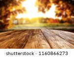 table background and autumn... | Shutterstock . vector #1160866273