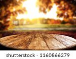 table background and autumn... | Shutterstock . vector #1160866279