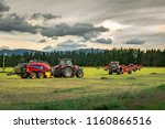 Red Agricultural Machinery Mow  ...