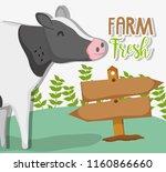 farm fresh cartoons | Shutterstock .eps vector #1160866660