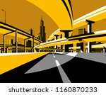 highway overpass road bridges... | Shutterstock .eps vector #1160870233