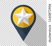 map pointer icon in flat style... | Shutterstock .eps vector #1160872906