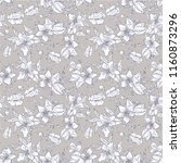 seamless pattern with flowers... | Shutterstock .eps vector #1160873296