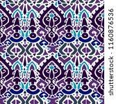ikat ornament. tribal pattern...   Shutterstock .eps vector #1160876536
