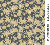 seamless pattern with flowers... | Shutterstock .eps vector #1160881693