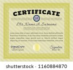 yellow sample certificate or... | Shutterstock .eps vector #1160884870