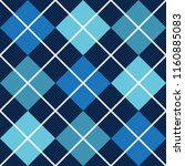 blue argyle diagonal diamond...   Shutterstock .eps vector #1160885083
