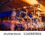 glasses of wine. glasses... | Shutterstock . vector #1160885806