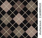 argyle diagonal diamond...   Shutterstock .eps vector #1160889610