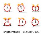 set of funny crazy red alarms... | Shutterstock .eps vector #1160890123