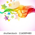 Abstract colorful background with wave for party design, vector - stock vector