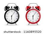 alarm clock vector realistic.... | Shutterstock .eps vector #1160895520