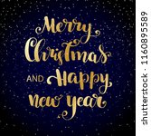 gold merry christmas and happy... | Shutterstock .eps vector #1160895589