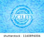 facility realistic sky blue... | Shutterstock .eps vector #1160896006