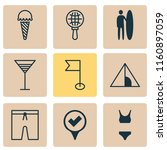 travel icons set with flag ...   Shutterstock .eps vector #1160897059