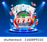 casino dice banner signboard on ... | Shutterstock .eps vector #1160899210