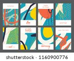 set of creative universal... | Shutterstock .eps vector #1160900776