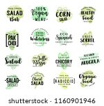 salads and lettuce vegetables... | Shutterstock .eps vector #1160901946