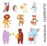 animal music vector animalistic ...   Shutterstock .eps vector #1160901970