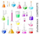 test tube flask vector chemical ... | Shutterstock .eps vector #1160901973