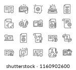 technical documentation line... | Shutterstock .eps vector #1160902600