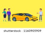 carpool and car sharing. happy...   Shutterstock .eps vector #1160905909
