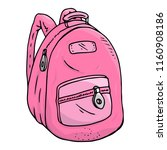 schoolbag. vector of a school... | Shutterstock .eps vector #1160908186