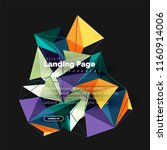 vector 3d triangle abstract... | Shutterstock .eps vector #1160914006