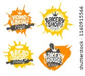 bread shop  bakery  bakehouse... | Shutterstock .eps vector #1160915566