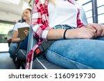 cropped shot of schoolgirl... | Shutterstock . vector #1160919730