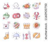 restaurant icons  thin line... | Shutterstock .eps vector #1160920750