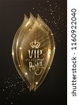 vip autumn card with gold... | Shutterstock .eps vector #1160922040