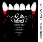 halloween party invitation card ... | Shutterstock .eps vector #1160922079