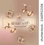 birthday party invitation card... | Shutterstock .eps vector #1160922106
