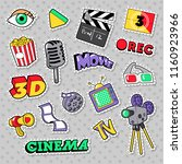 cinema film television patches  ... | Shutterstock .eps vector #1160923966