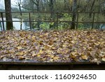 abandoned old park with a pond  ... | Shutterstock . vector #1160924650