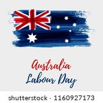 australia labour day holiday.... | Shutterstock .eps vector #1160927173