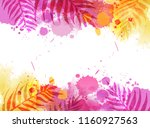 abstract watercolor imitation... | Shutterstock .eps vector #1160927563