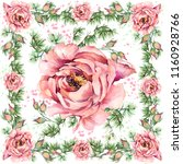 floral shawl textile design....   Shutterstock . vector #1160928766