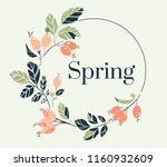 spring flowers decoration.... | Shutterstock .eps vector #1160932609