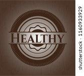 healthy realistic wood emblem   Shutterstock .eps vector #1160933929