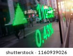 display stock market data | Shutterstock . vector #1160939026