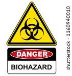 biohazard  danger sign warning  ... | Shutterstock .eps vector #1160940010