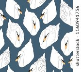 seamless pattern with white...   Shutterstock .eps vector #1160941756
