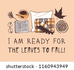 hand drawn autumn illustration... | Shutterstock .eps vector #1160943949