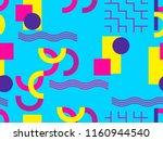 memphis seamless pattern....   Shutterstock .eps vector #1160944540